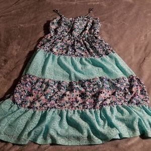 Girls Maxi Dress Floral and lace